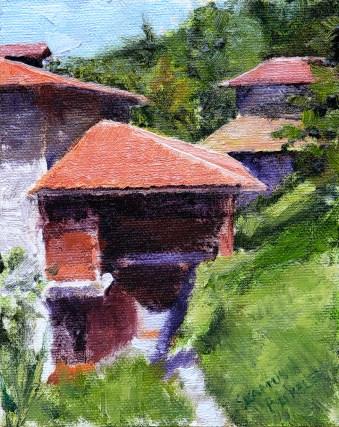 Bermeo Painting Seamus Berkeley