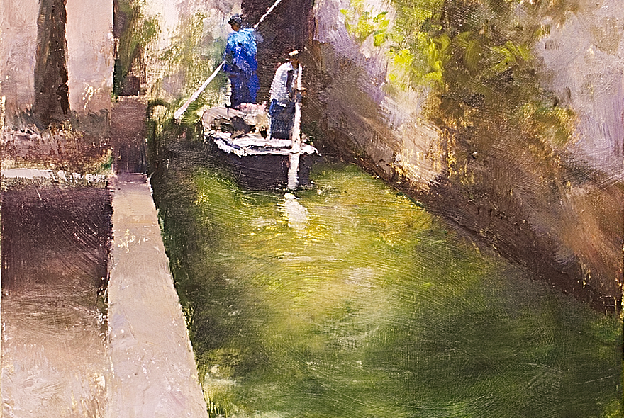 Suzhou Canal Featured Painting Seamus Berkeley