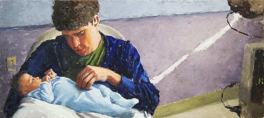Derrek and Josephine Progress 07 Portrait Feature Painting Seamus Berkeley