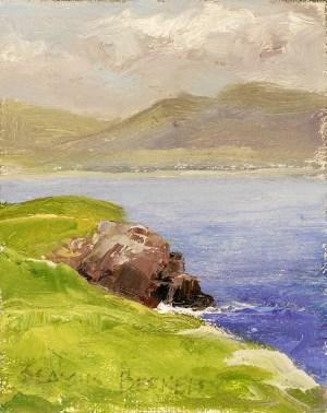 Cliffs Waterville Painting Seamus Berkeley