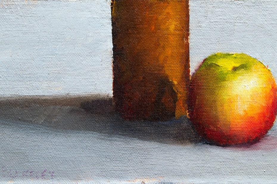 Copper Vase Apple Painting Seamus Berkeley