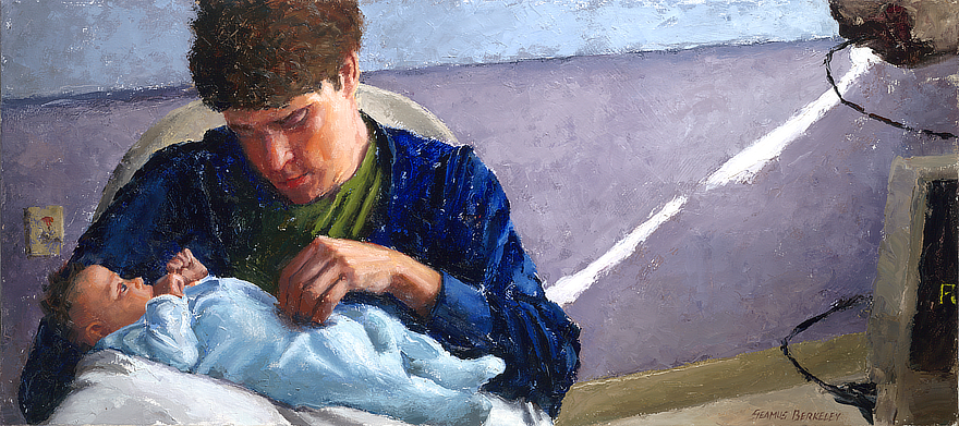 Derrek and Josephine Final Portrait Feature Painting Seamus Berkeley