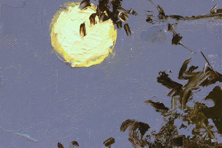 Full Moon Painting Seamus Berkeley