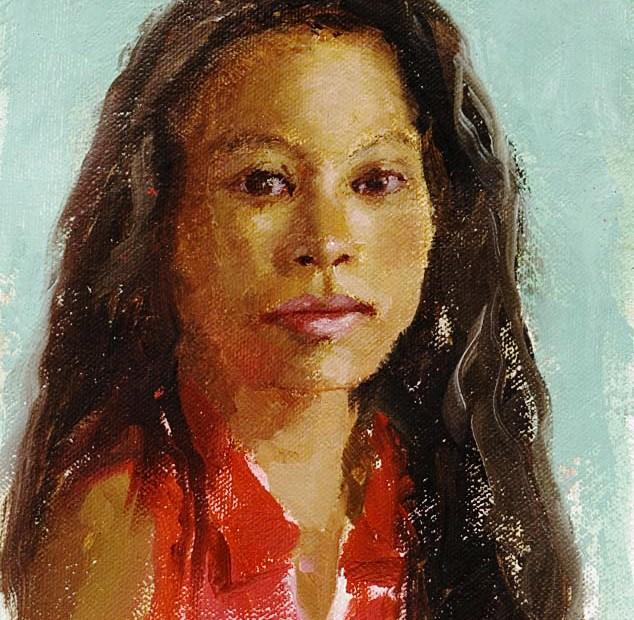 Herminia Study Portrait Painting Seamus Berkeley