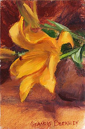 Lily Painting Seamus Berkeley