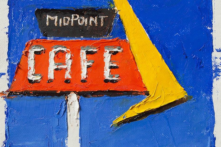 MidPoint Cafe Near Study Painting Seamus Berkeley