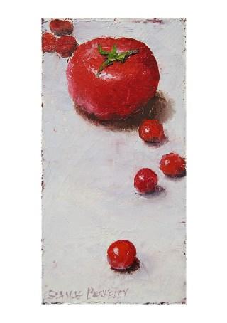 Multiplying Tomatoes Notecard Front Painting Seamus Berkeley