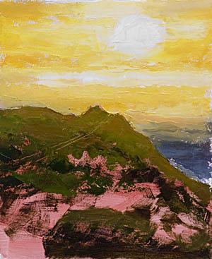 Progress 03 Point Reyes Lighthouse Painting Seamus Berkeley