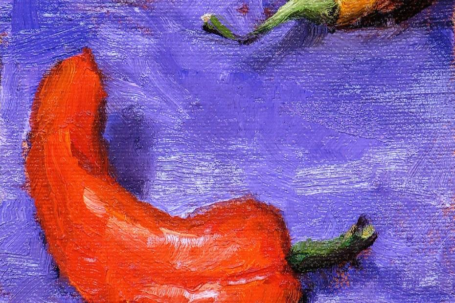 Three Peppers Painting Seamus Berkeley