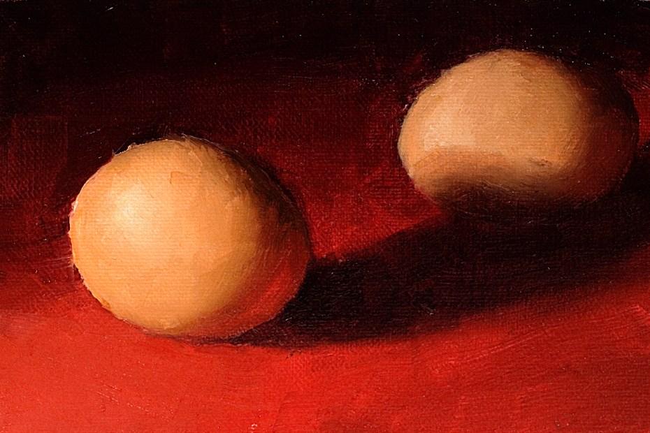 Two Eggs Painting Seamus Berkeley