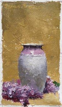 Lilacs, Lavender Vase