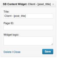 SB Content Widget – WordPress plugin