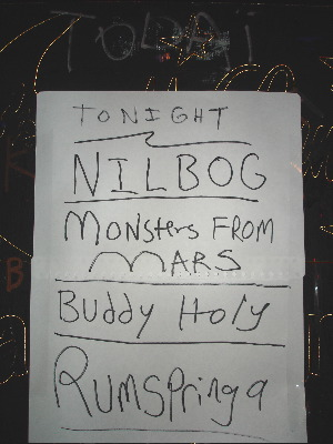 Nilbog & Buddy Holy photos from Il Corral