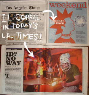 WOW—IL CORRAL FEATURED IN TODAY'S L.A. TIMES!!!
