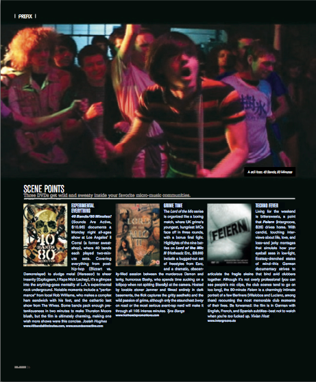 NEW XLR8R MAG FEATURES MONDAY NIGHT BANDS & FANS IN FULL-PAGE LAYOUT & DVD REVIEW!!!
