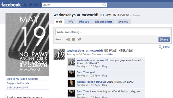 Facebook takes over absolutely everything…& all I got was this No Paws interview