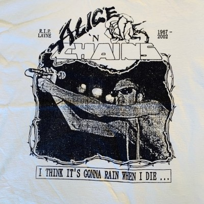 "Alice In Chains ""R.I.P. LAINE {SIC}"" Tribute T-Shirt"