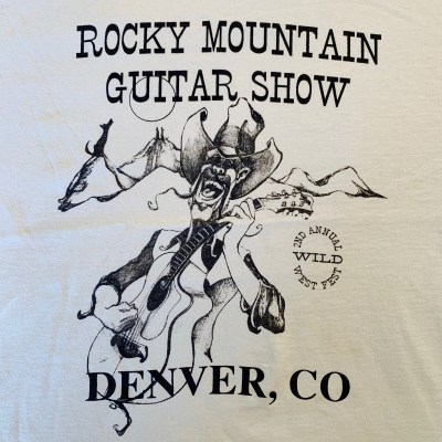 """ROCKY MOUNTAIN GUITAR SHOW"" T-shirt"