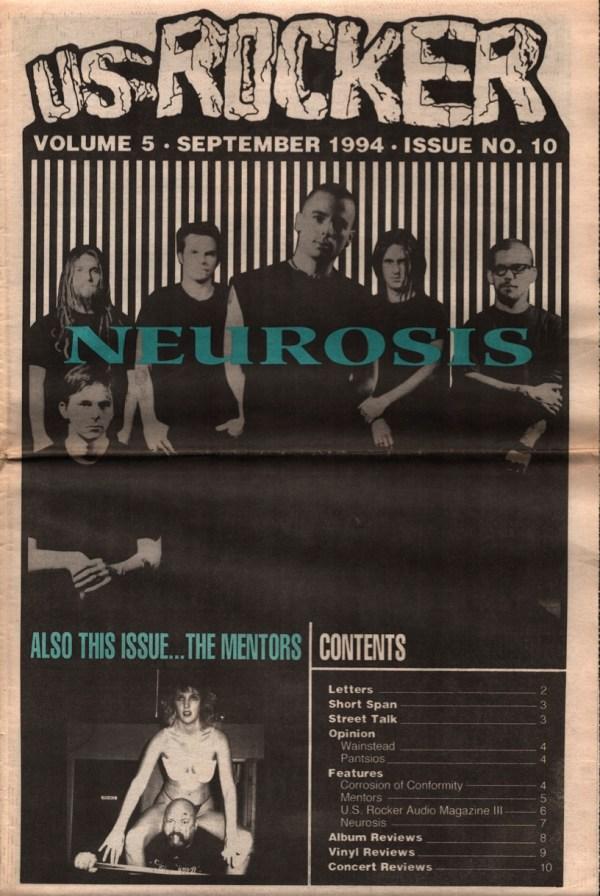 US Rocker cover Neurosis 1994