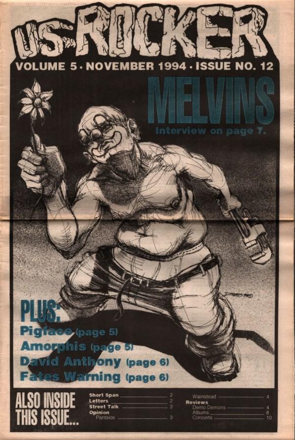 US Rocker Derek Hess Melvins cover