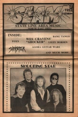 SLAM Magazine U.S. Rocker November 1989 Ohio metal