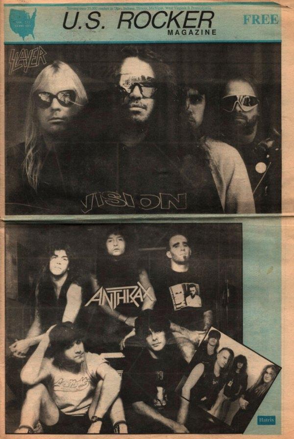 U.S. Rocker February 1991 Slayer Anthrax