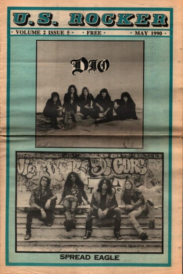 U.S. Rocker May 1990 Cleveland Dio Spread Eagle