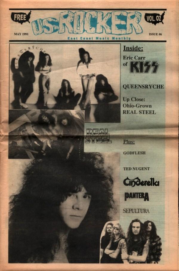 U.S. Rocker May 1991 Eric Carr Kiss Queensryche Cleveland