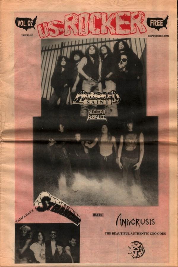 U.S. Rocker, September 1991 Cleveland Armored Saint Nuclear Assault Anacrusis Beautiful Authentic Zoo Gods