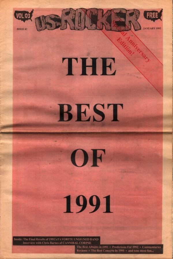 U.S. Rocker, January 1992 Cleveland Best of 1991 Cannibal Corpse