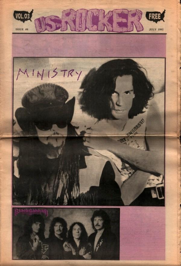 U.S. Rocker, July 1992 Cleveland Ministry Black Sabbath