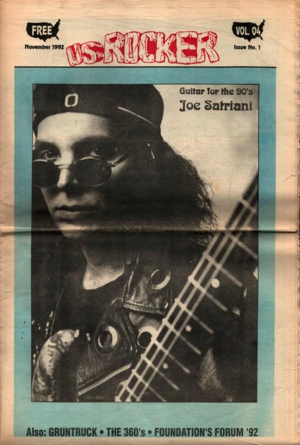 U.S. Rocker, November 1992 Cleveland Joe Satriani Gruntruck