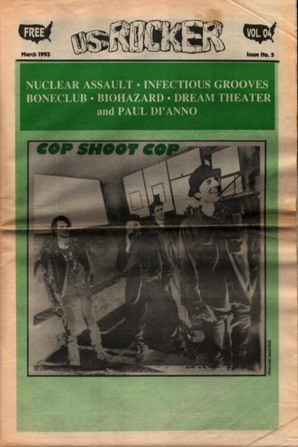 U.S. Rocker, March 1993 Cleveland Cop Shoot Cop Dream Theater