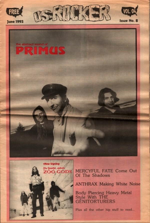 U.S. Rocker, June 1993 Cleveland Primus Beautiful Authentic Zoo Gods Mercyful Fate
