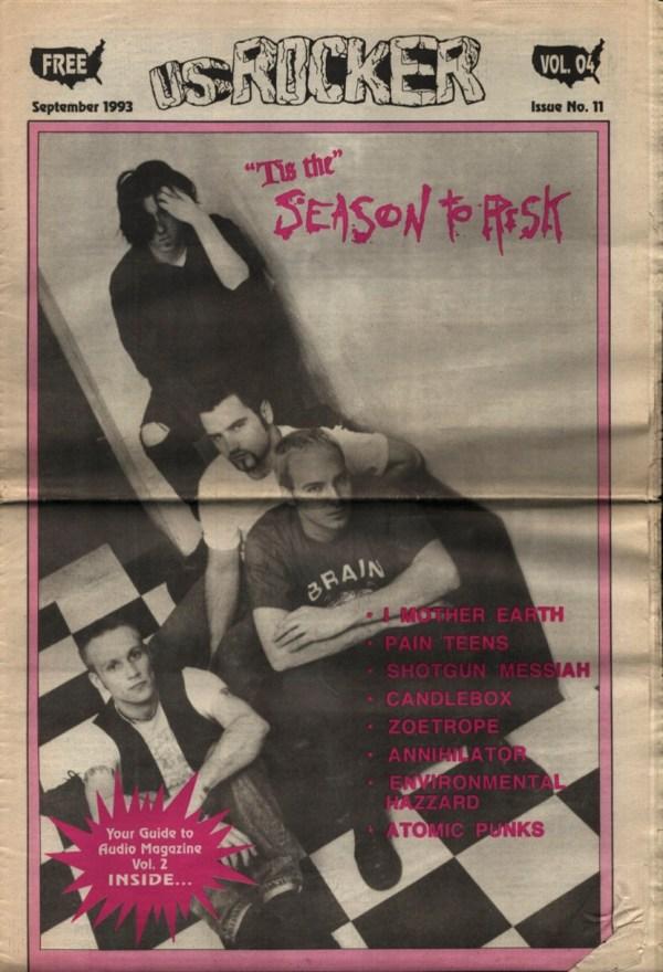 U.S. Rocker, September 1993 Cleveland Season To Risk Pain Teens