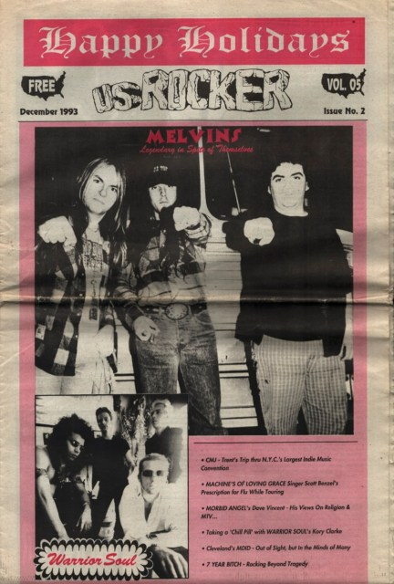 U.S. Rocker, December 1993 Cleveland Melvins Morbid Angel Warrior Soul