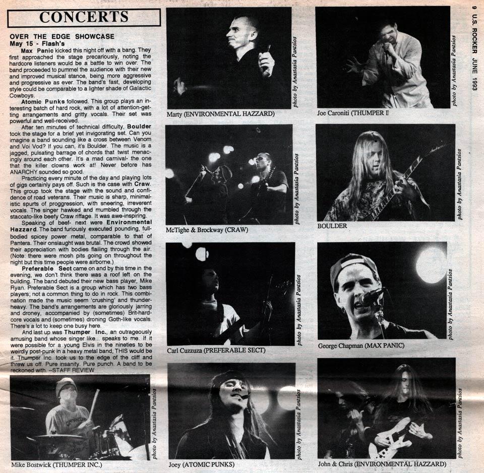 U.S. Rocker Flash's Over the Edge showcase 1993 Boulder Craw