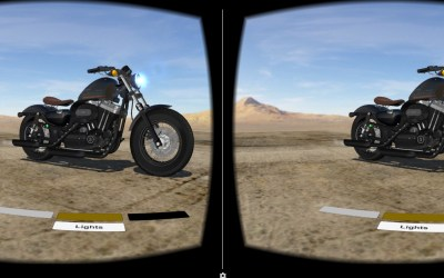 Virtual Reality Experiments – Motorcycle Configurator App For Google Cardboard