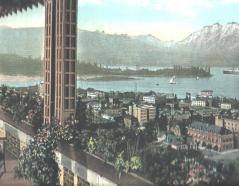 Hotel Vancouver View Postcard