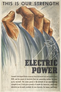 """This is our strength ... electric power"" by Marian Scott [1945] Source: Toronto Public Library"