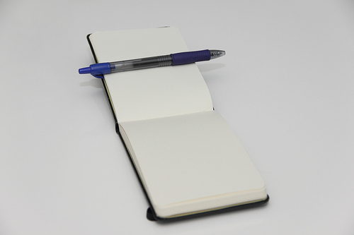 zettelkasten with a moleskin notebook