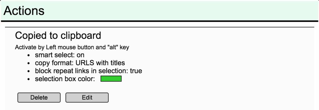 linkclump options
