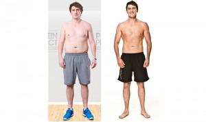 Ollie Ward's body transformation