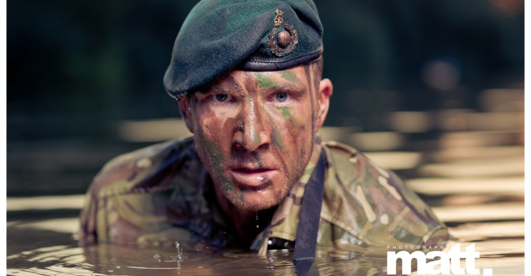 Sean Lerwill's Royal Marines Commando river shoot (Credit: Matt Marsh)