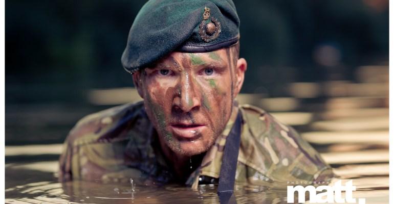 Sean Lerwill's Royal Marines Commando river shoot (Credit: Matt Marsh)