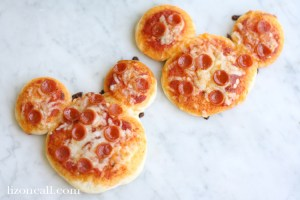Mini Mickey Mouse Pizza