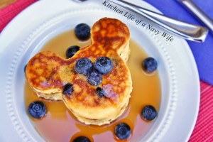 Mickey Mouse Blueberry Pancakes