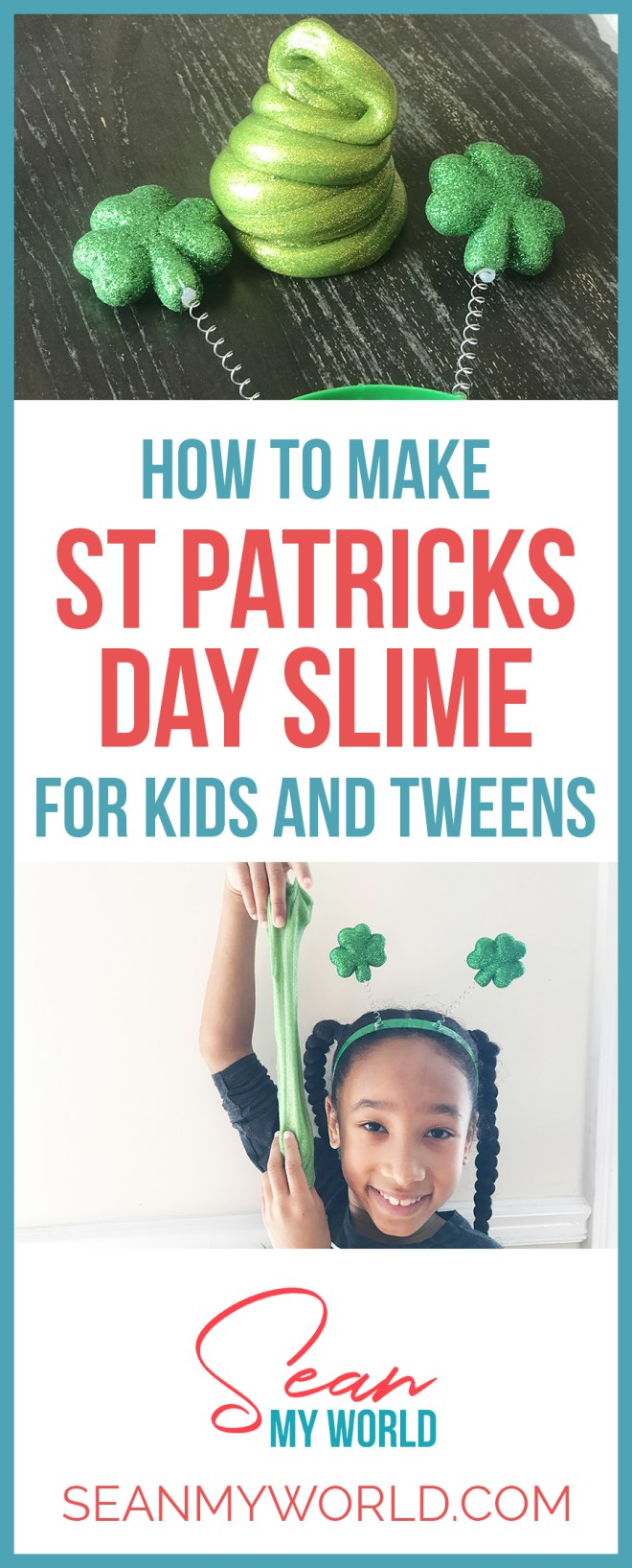 We're making a gold and green DIY glitter slime for Saint Patricks Day! Want to learn how to make glitter slime? Then watch this video.