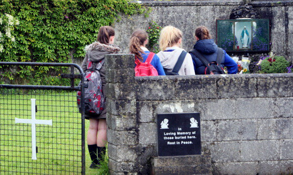 Tuam schoolgirls visit presumed site of unmarked infant grave