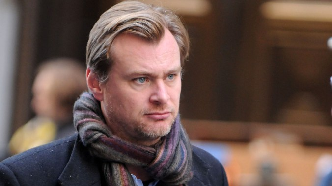 "Director Christopher Nolan on location for ""The Dark Knight Rises"" in 2011"